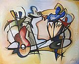 Alfred Gockel quartet painting